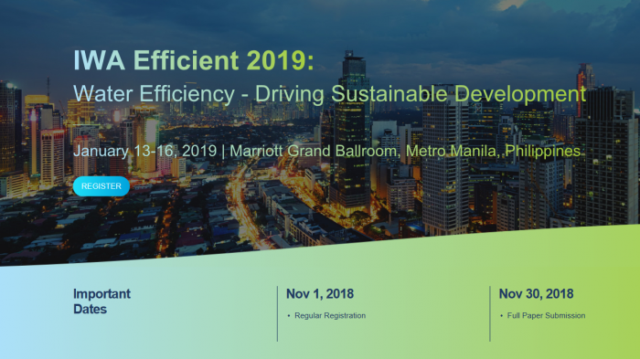 IWA Efficient 2019 Water Efficiency - Driving Sustainable Development