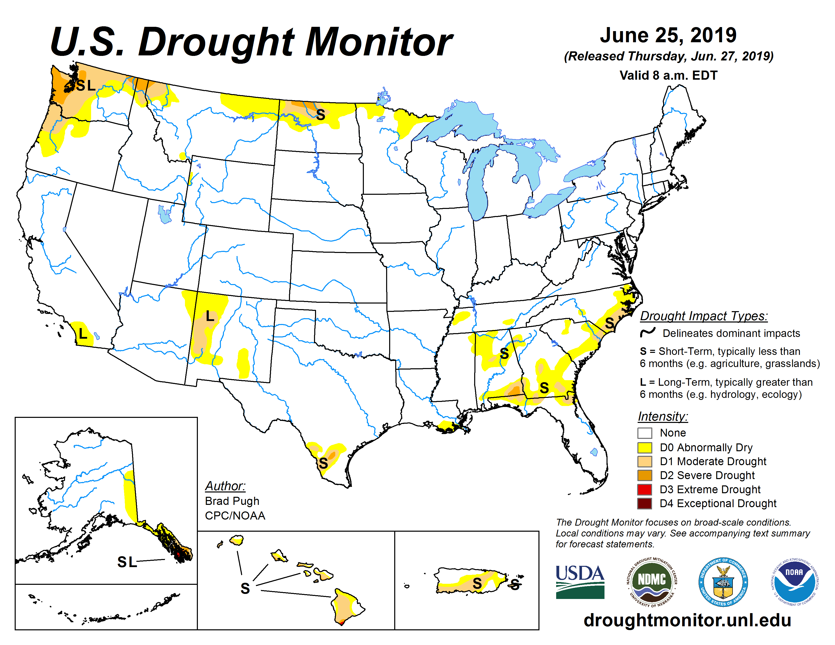 Figure 3: Drought Monitor map. source:droughtmonitor.unl.edu