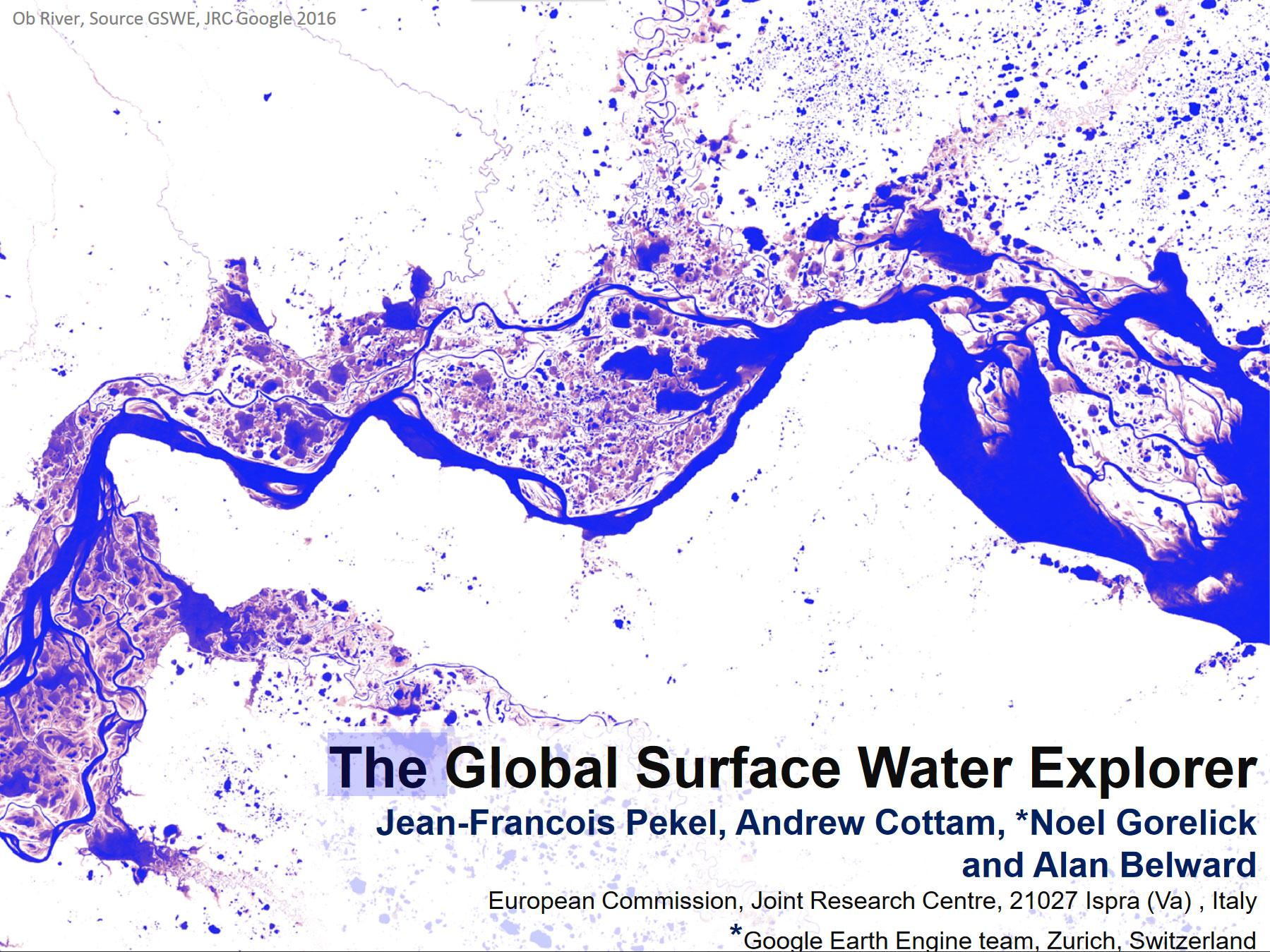 The Global Surface Water Explorer Presentation Cover
